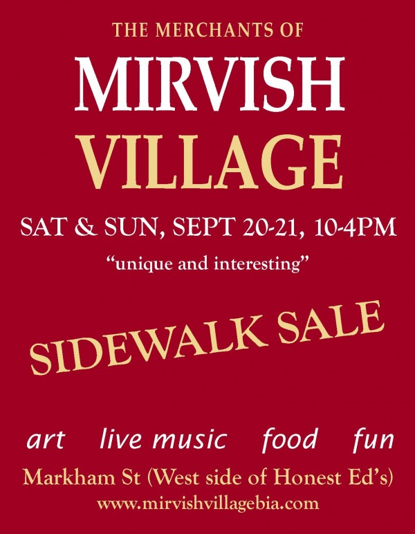 Mirvish Village Sidewalk Sale Poster