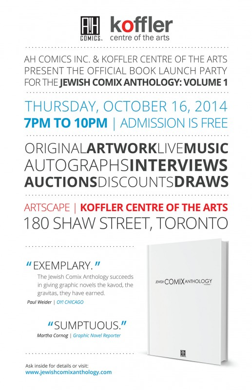 JCAnthology Book Launch Party Poster 11x17 sample
