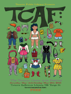 TCAF 2016 Poster of Paper Dolls by Kate Beaton