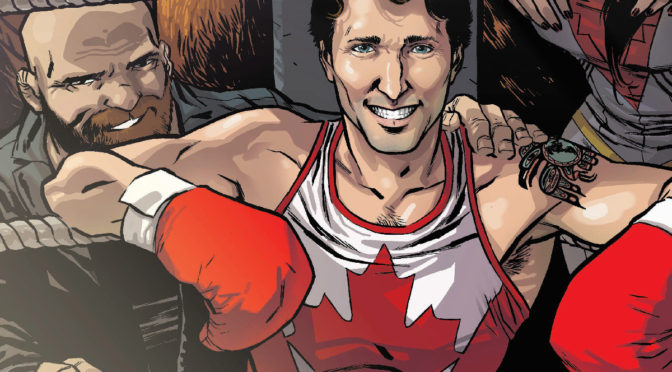 "AUG31: RAMON PEREZ & CHIP ZDARSKY SIGN ""CIVIL WAR"" COMIC FEAT. JUSTIN TRUDEAU 5-7PM"