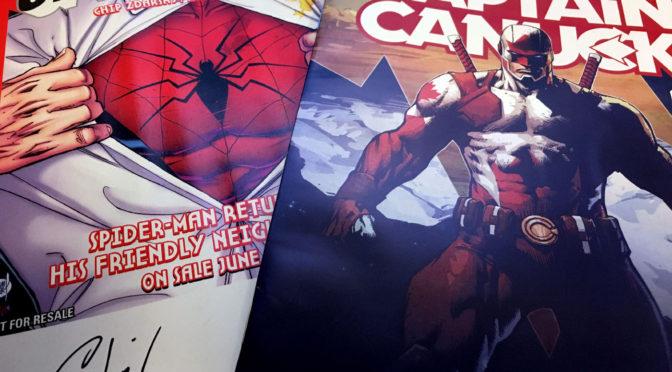 FCBD Update! Jay Baruchel & Kalman Andrasofszky signing @ P&P! Chip Zdarsky signed Spider-Man comics!