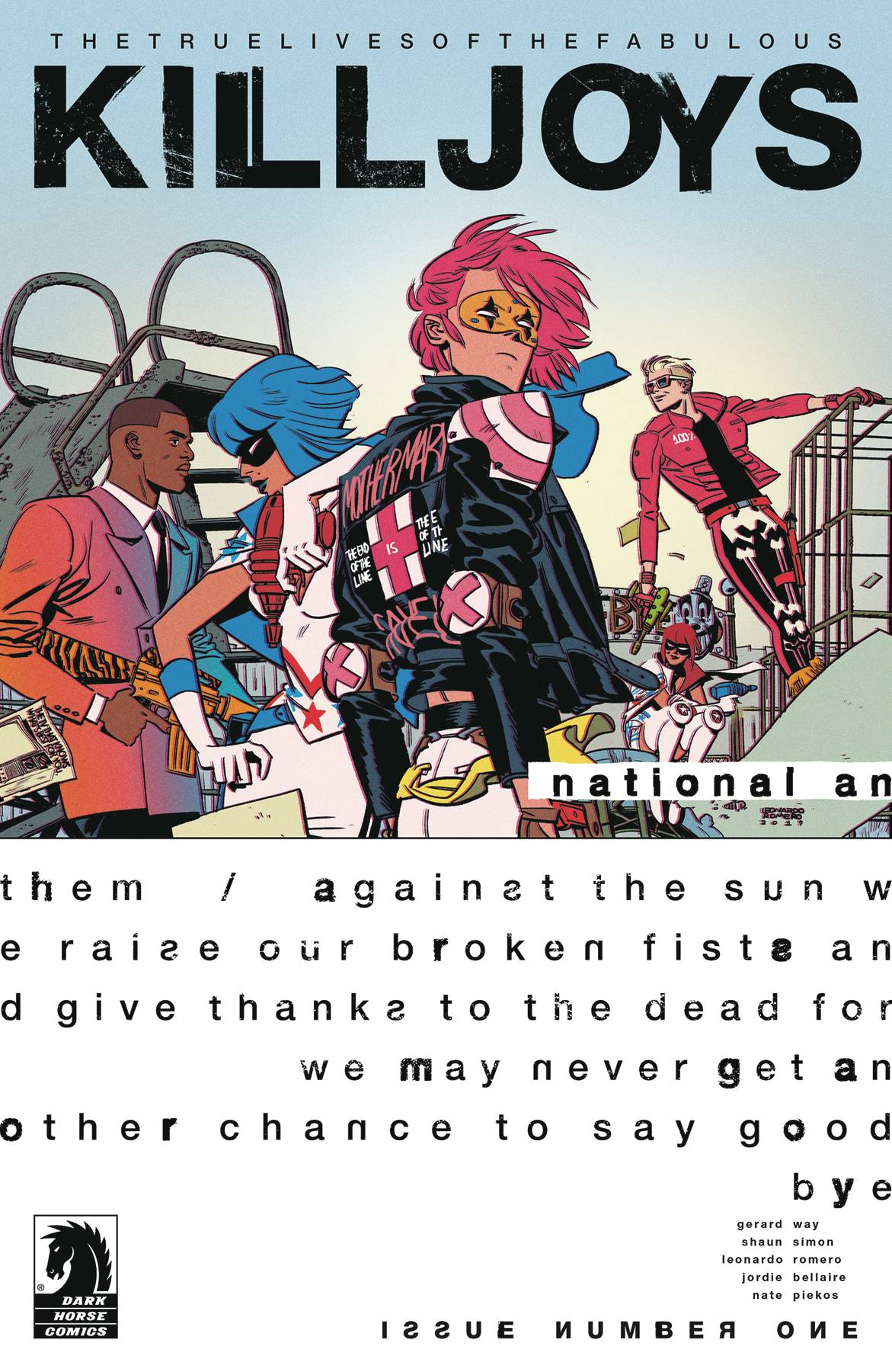 TRUE LIVES FABULOUS KILLJOYS NATIONAL ANTHEM #1 CVR A ROMERO